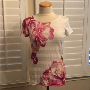 INC Pink Floral Short Sleeve Top